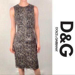 Dolce & Gabbana Soft Sequin Printed Sheath Dress 4